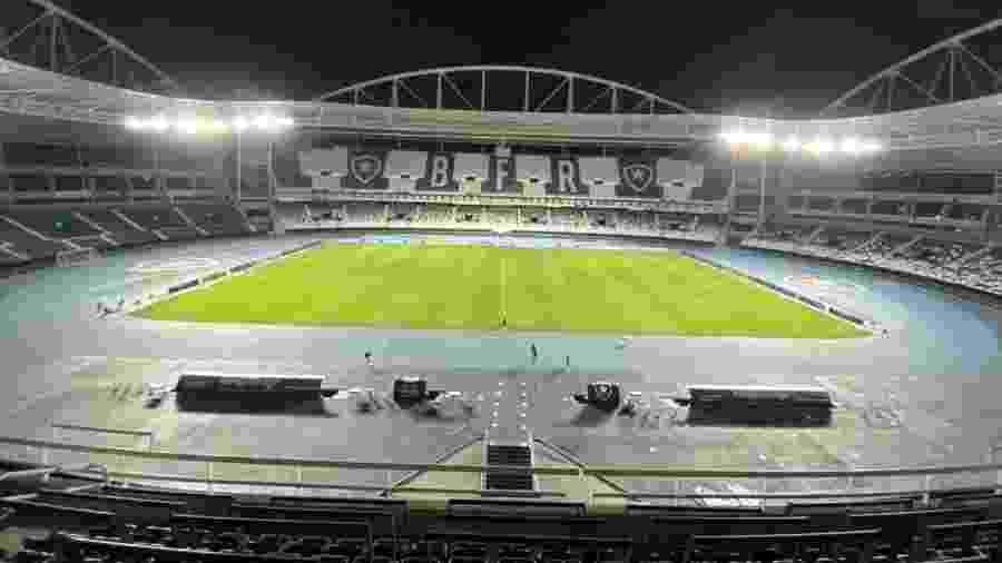 No Nilton Santos, Botafogo e Fluminense pagaram despesas 10 vezes maiores que rivais na volta do Campeonato Carioca - Caio Blois/UOL