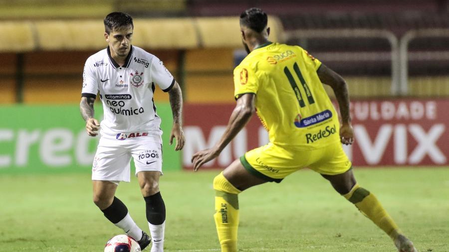 Fagner durante a partida entre Corinthians e Mirassol, em Volta Redonda, pelo Campeonato Paulista - Rodrigo Coca / Agência Corinthians