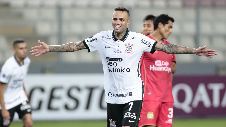 Luan marcou dois gols na vitória do Corinthians sobre o Sport Huancayo na Copa Sul-Americana - Agência Corinthians