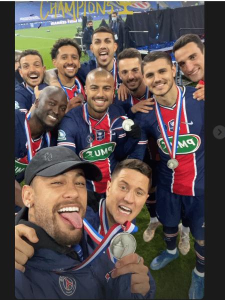 Neymar comemora título do PSG na Copa da França - Reprodução