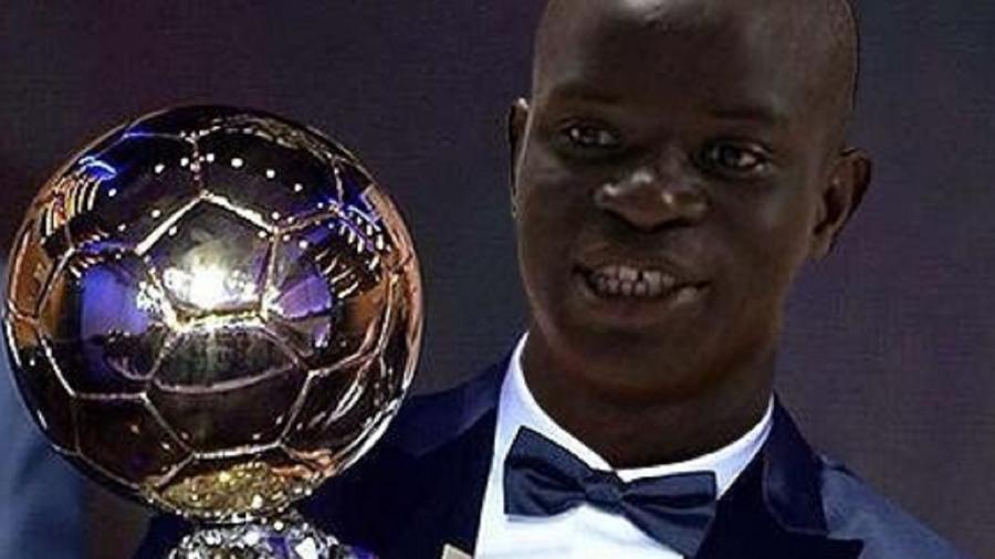 Kanté com Bola de Ouro vira meme após final da Champions - Reprodução