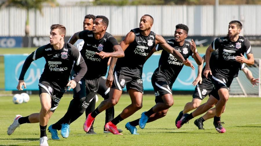 Jemerson voltou aos treinos no Corinthians  - Rodrigo Coca/ Ag. Corinthians