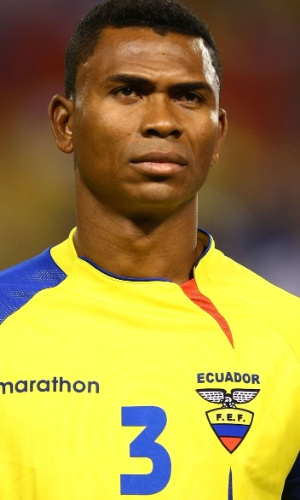 Iván Hurtado, do Equador, antes de amistoso contra a Jamaica em 2009