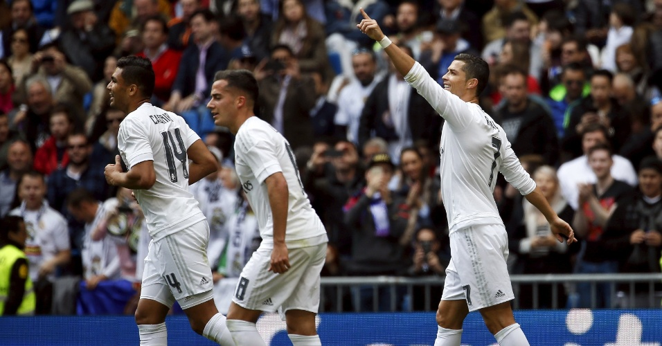 Cristiano Ronaldo comemora gol do Real Madrid
