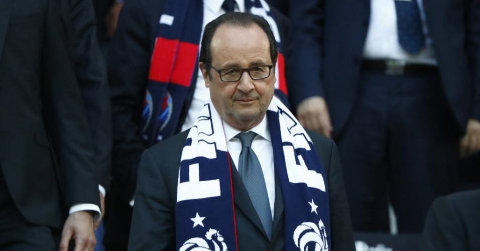 François Hollande, presidente da França, acompanha partida contra a Alemanha na semifinal da Eurocopa