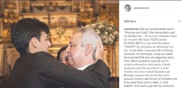 Mulher de Camacho posta mensagem no Instagram após a morte do pai do jogador - Reprodução/Instagram