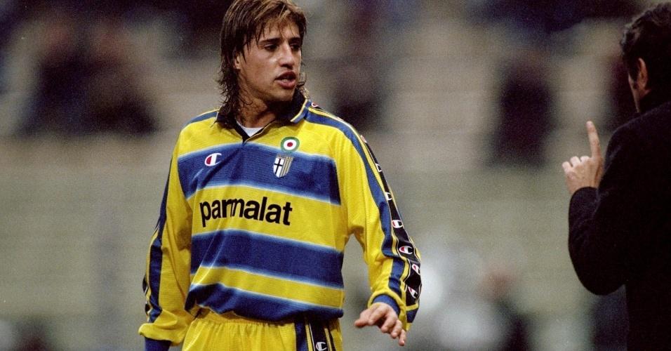 Argentino Hernán Crespo fez sucesso pelo Parma nos anos 90
