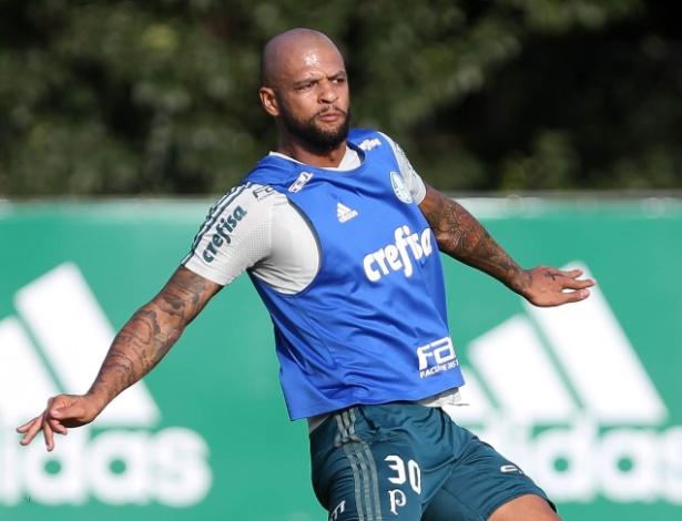 Felipe Melo voltou a trabalhar com o grupo palmeirense no início de setembro