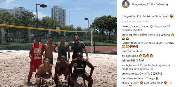 Thiago Silva - reprodução/Instagram - reprodução/Instagram