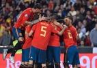 Espanha joga bem e vence a Noruega na estreia das Eliminatórias da Euro - JOSE JORDAN / AFP