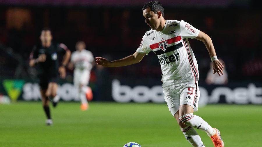 Pablo, do São Paulo, em clássico contra o Palmeiras pelo Campeonato Brasileiro 2019 - Marcello Zambrana/AGIF