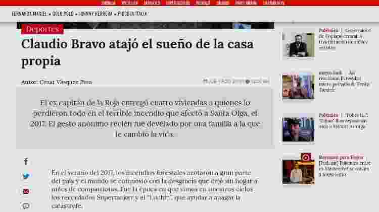 Notícia Claudio Bravo - Reprodução - Reprodução