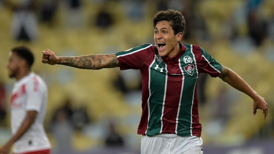 Pedro comemora gol pelo Fluminense: atacante foi negociado com a Fiorentina - Thiago Ribeiro/AGIF
