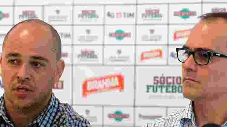 Marcelo Teixeira com Pedro Abad - Nelson Perez/Fluminense FC - Nelson Perez/Fluminense FC