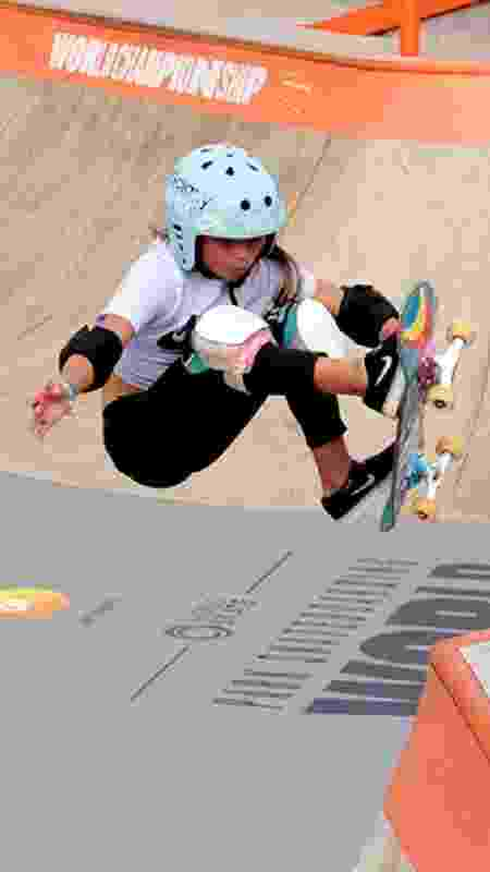 Sky Brown, de 11 anos, que pode ser a britânica mais jovem da história nos Jogos Olímpícos - Paulo Anshowinhas/UOL