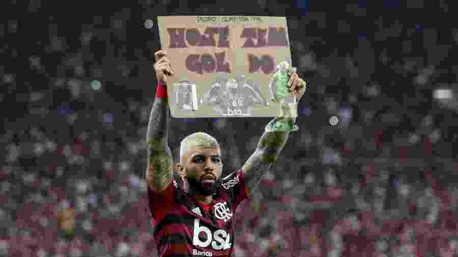 Gabigol tem contrato até o fim deste ano e Flamengo busca permanência - Bruno Baketa/AGIF