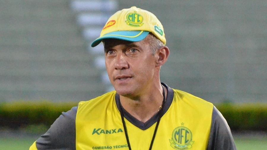 Eduardo Baptista, durante treino no Mirassol - Divulgação/Mirassol