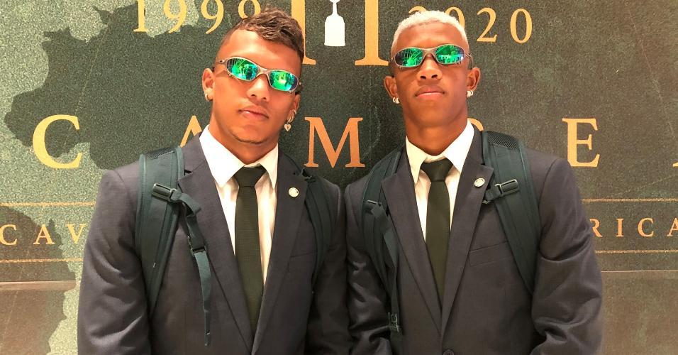 Palmeiras: Gabriel Verón e Danilo embarcando para o Mundial de Clubes no Qatar