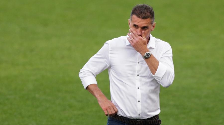 Vagner Mancini não resistiu à goleada sofrida para o Palmeiras e foi demitido - Marcello Zambrana/AGIF