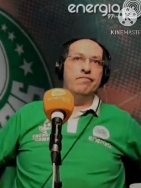 Jornalista Domenico Gatto foi alvo de provocações após eliminação do Palmeiras contra o CRB na Copa do Brasil - Reprodução