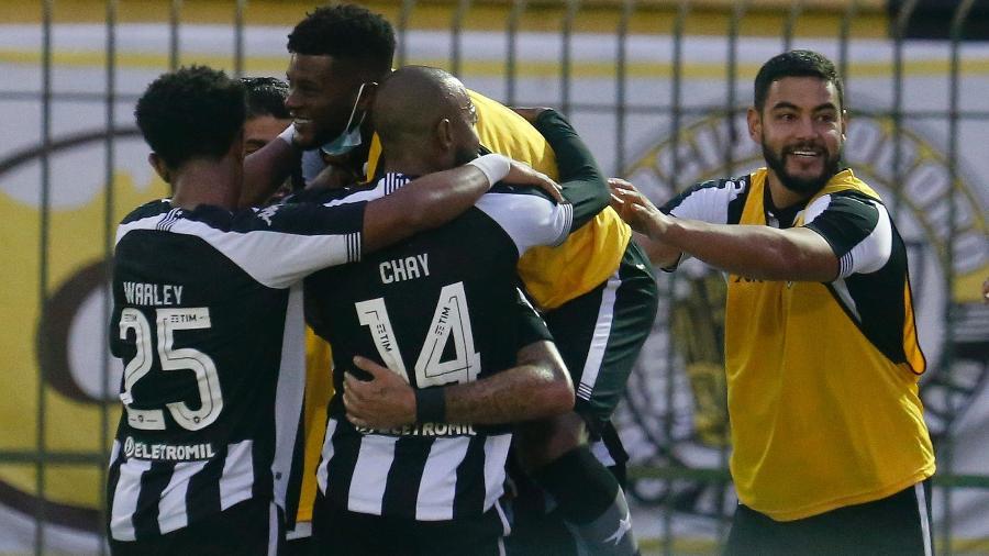Jogadores do Botafogo comemoram gol - Vitor Silva/Botafogo