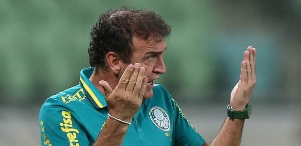 O técnico Cuca durante jogo do Palmeiras contra o Flamengo