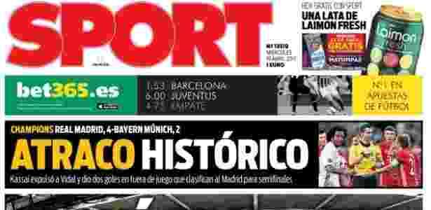 Sport critica vitória do Real Madrid sobre o Bayern de Munique - Reprodução