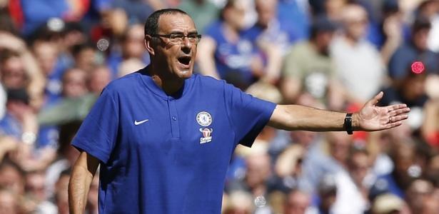 O Chelsea, de Maurizio Sarri, ocupa a 4ª posição no Campeonato Inglês com 40 pontos  - IAN KINGTON/AFP
