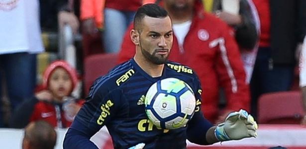 Weverton sentiu dores musculares em jogo contra o Internacional - Divulgação/Palmeiras