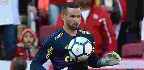 Weverton sentiu dores em jogo contra o Internacional - Divulgação/Palmeiras