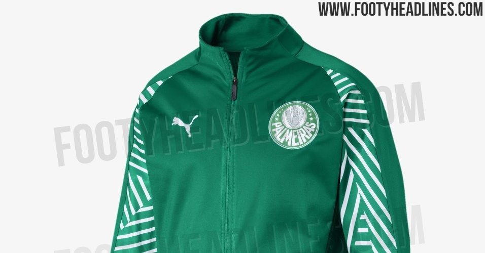 Novos agasalhos do Palmeiras feitos pela Puma