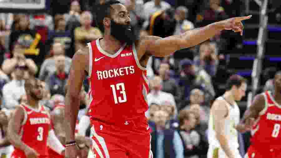 O Houston Rockets de James Harden jogará hoje pela NBA, assim como Celtics, Bucks, Spurs e Wizards - Brian Spurlock/USA Today