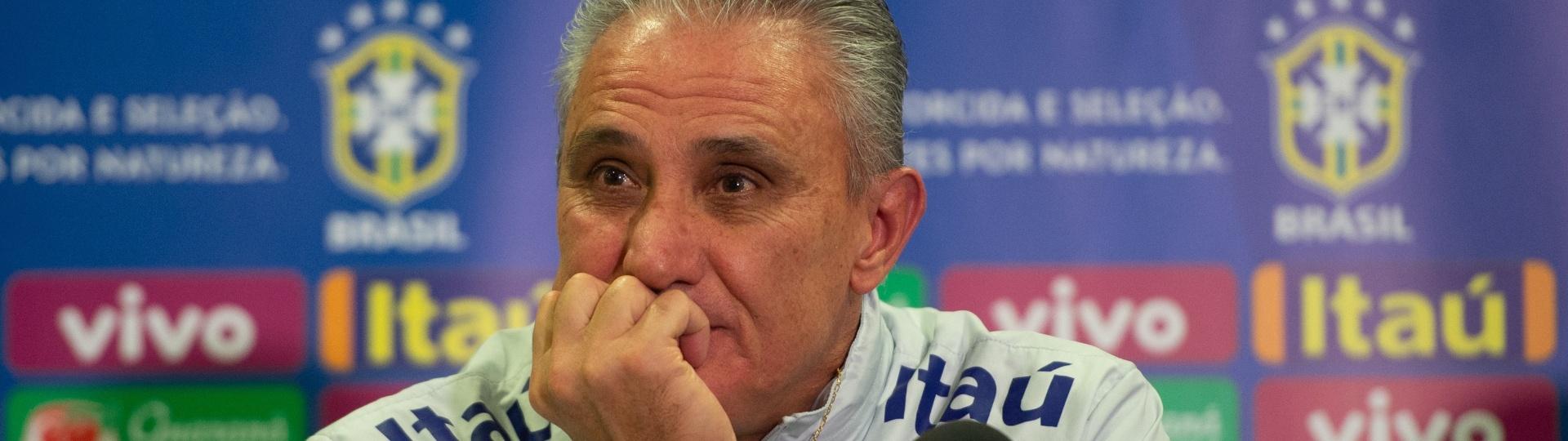 Tite, técnico da seleção brasileira, durante entrevista coletiva