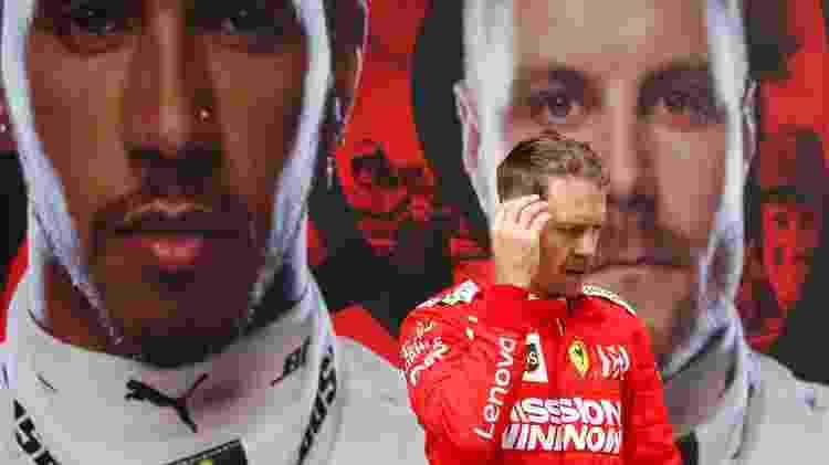 Sebastian Vettel, piloto da Ferrari, terminou em terceiro no GP da China - Aly Song/Reuters - Aly Song/Reuters