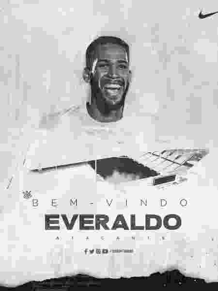 Corinthians anuncia Everaldo como reforço para o ataque do técnico Fábio Carille - divulgação/Corinthians