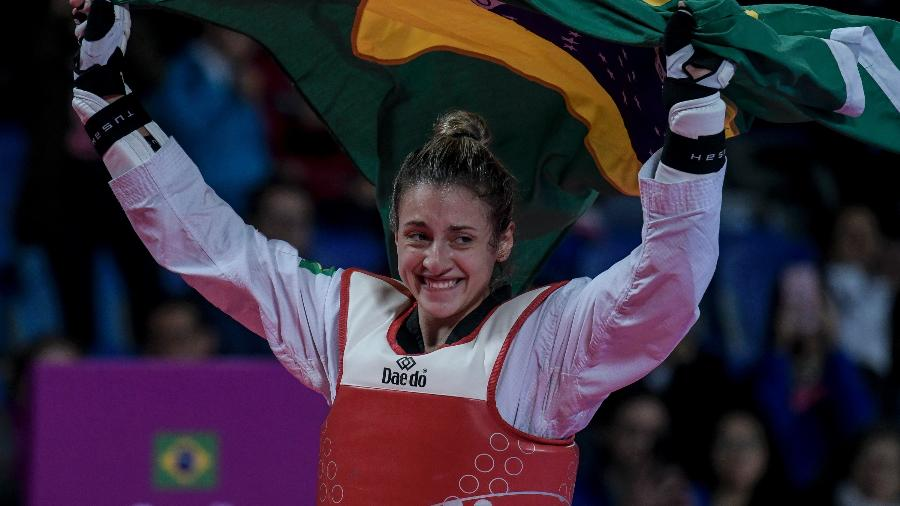 Milena Titoneli é a primeira brasileira campeã pelo taekwondo do Pan - Washington Alves/COB