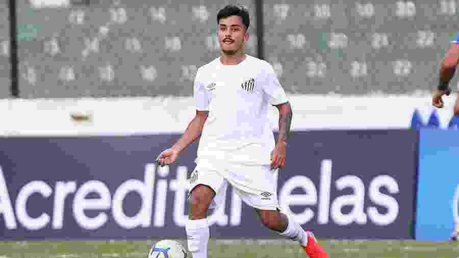 Lucas Lourenço em atuação pela equipe sub-20 do Santos - Pedro Ernesto Guerra Azevedo/Santos FC