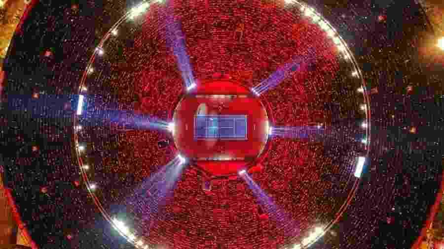 Praça de Touros, no México, reuniu mais de 42 mil pessoas para jogo-exibição do tenista Roger Federer  - Reprodução/Twitter