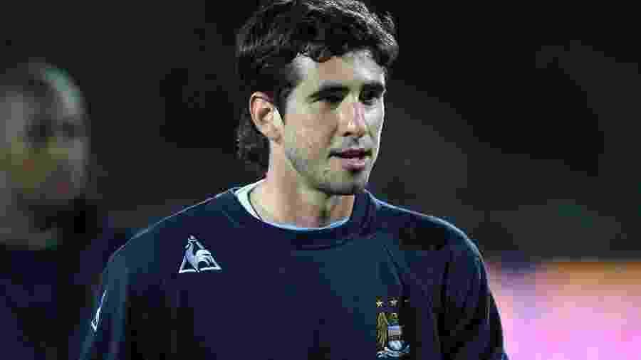 Gláuber teve uma passagem relâmpago pelo Manchester City e caiu nas graças pela torcida - Reprodução