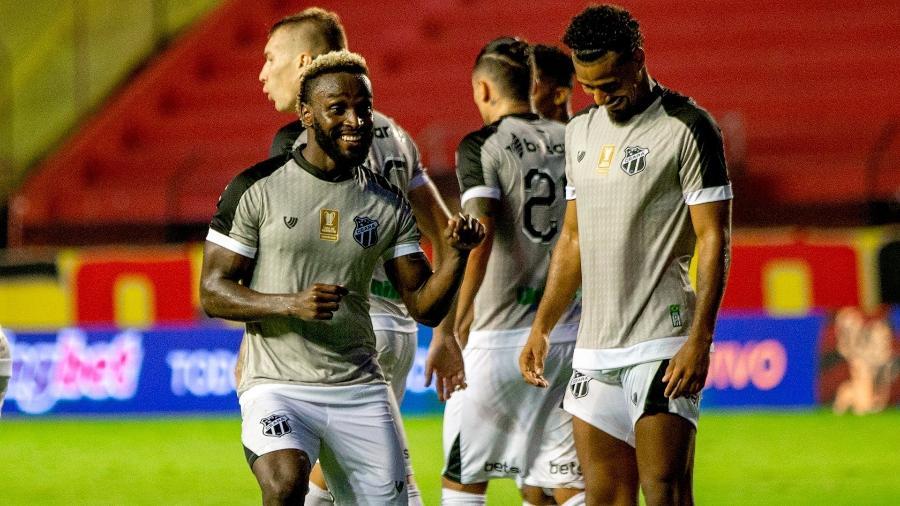 Jogadores do Ceará comemoram gol sobre o Sport em goleada na Copa do Nordeste 2021 - Divulgação/Ceará SC