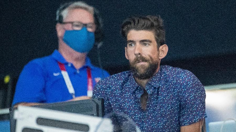 Michael Phelps está nas Olimpíadas de Tóquio como comentarista da NBC - Tim Clayton - Corbis/Corbis via Getty Images