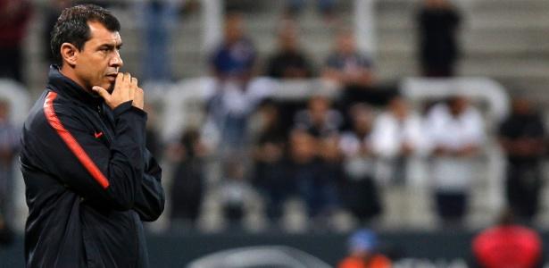 Carille não concedeu entrevista coletiva após a classificação do Corinthians