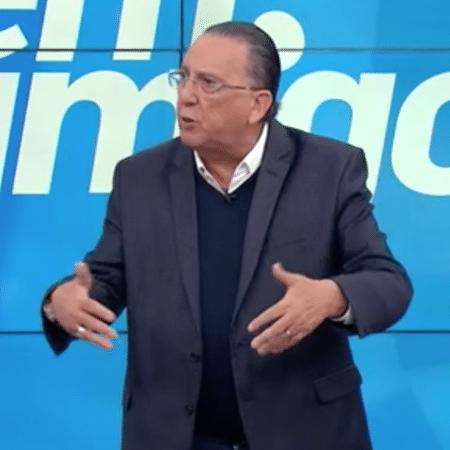 """Galvão Bueno, no """"Bem, Amigos"""", após voltar das férias - Reprodução/SporTV"""