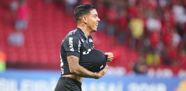 David Terans, meia-atacante do Atlético-MG, celebra gol sobre o Internacional - Bruno Cantini/Divulgação/Atlético-MG