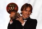 """Modric diz que não foi premiado por acaso: """"Viram que futebol não é só gol"""" - Franck Fife/AFP"""