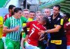 Em súmula, árbitro diz que técnico do Juventude começou confusão com Inter - Reprodução/TV