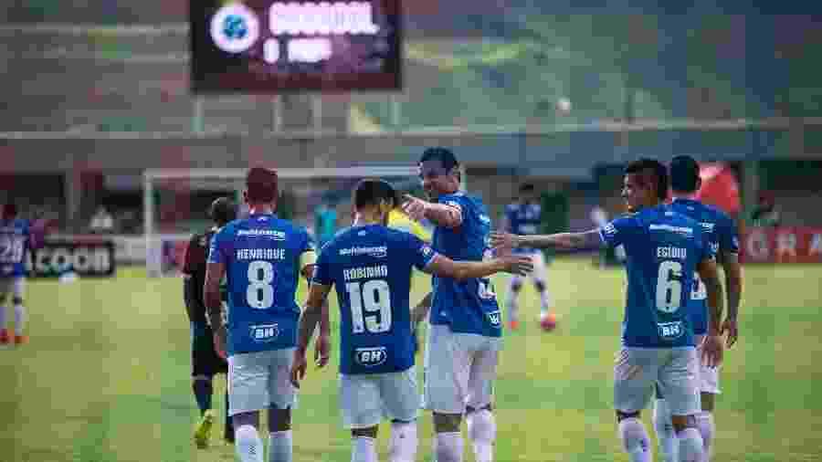 Fred celebra gol do Cruzeiro contra o Tupi em Juiz de Fora - Bruno Haddad/Cruzeiro