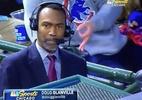 Equipe bane torcedor que fez gesto racista atrás de comentarista negro - Reprodução