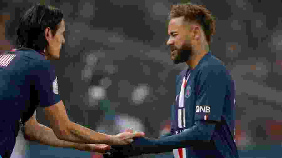 Cavani entra no lugar de Neymar em partida do PSG contra o Nantes pelo Campeonato Francês - REUTERS/Charles Platiau