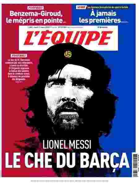 Messi Che Guevara - Reprodução/L'Equipe - Reprodução/L'Equipe